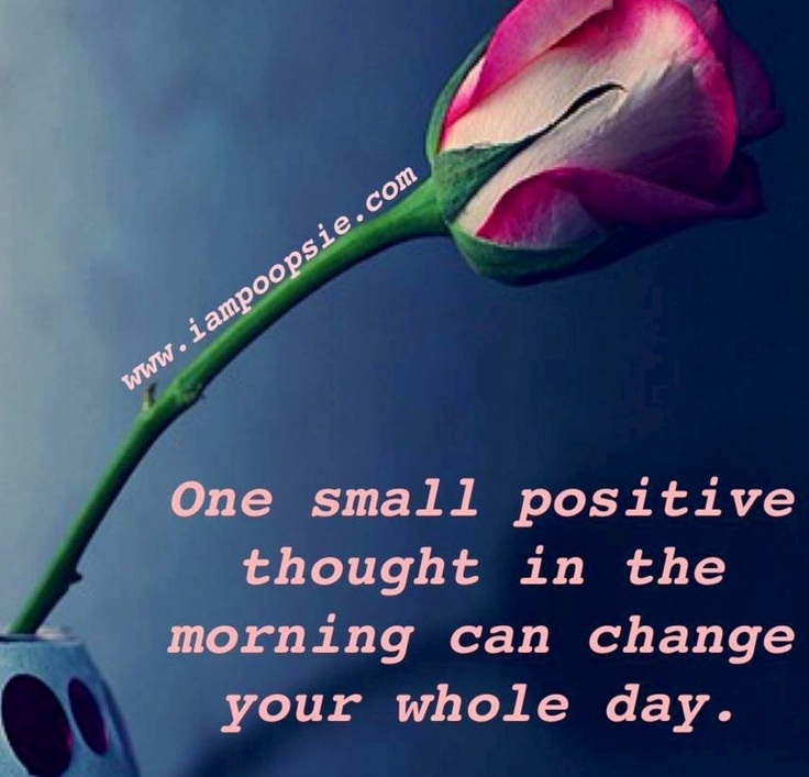 Positive thoughts quote via www.IamPoopsie.com