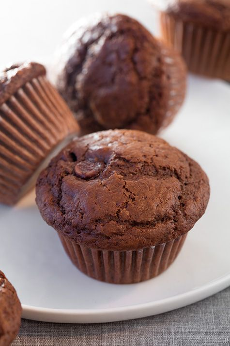 Chocolate Chocolate Chip Muffins | Recipe