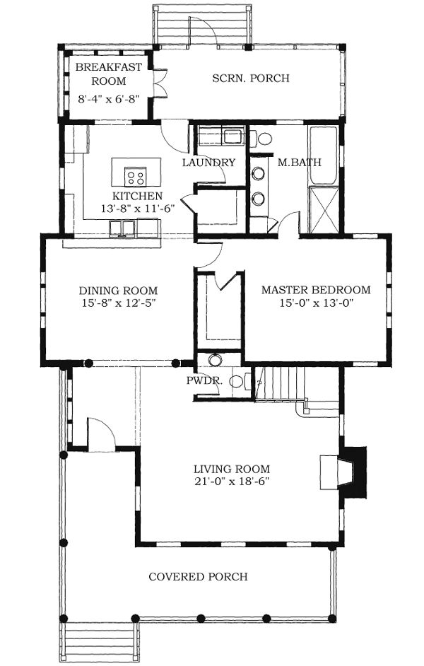 Historic Southern House Plan 73734