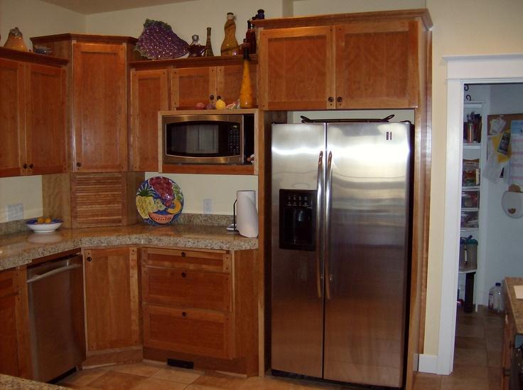 natural cherry corner kitchen cabinet kitchens pinterest