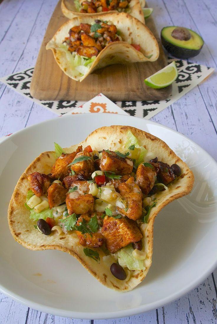 Chicken tostada salad | YUM! | Pinterest