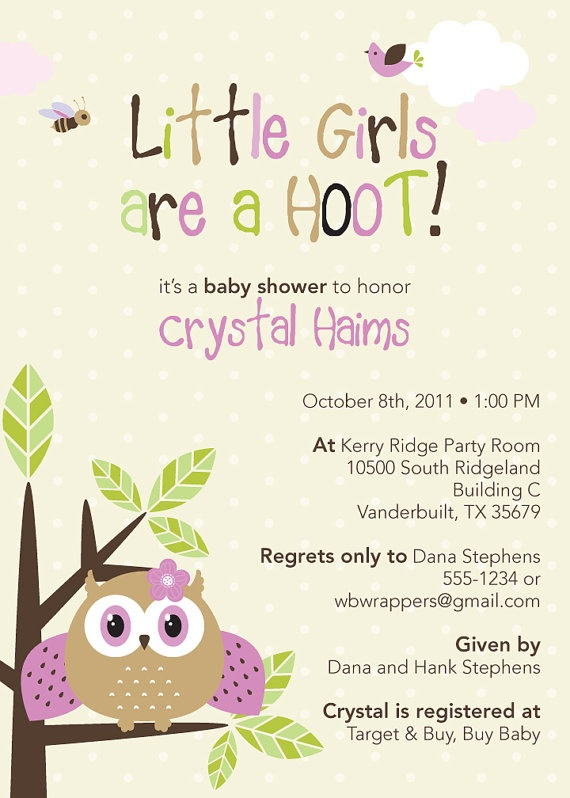 cute owl themed baby shower invitations boy or girl by whirlibird 12