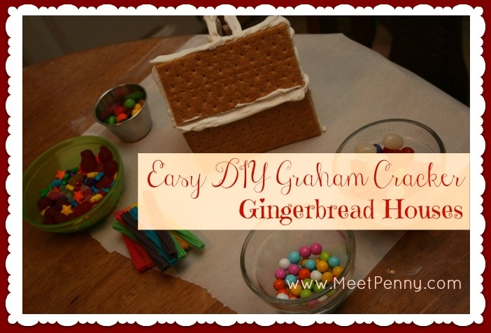 Homemade Holiday Easy Diy Graham Cracker Gingerbread Houses