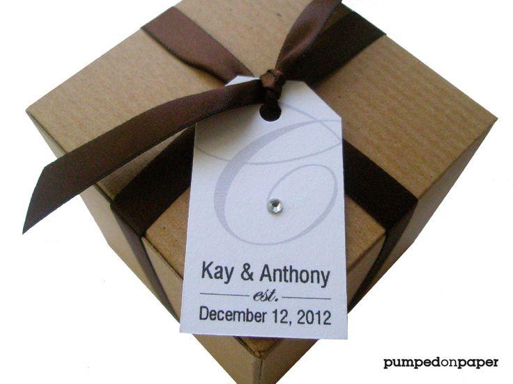 wedding favor tags -