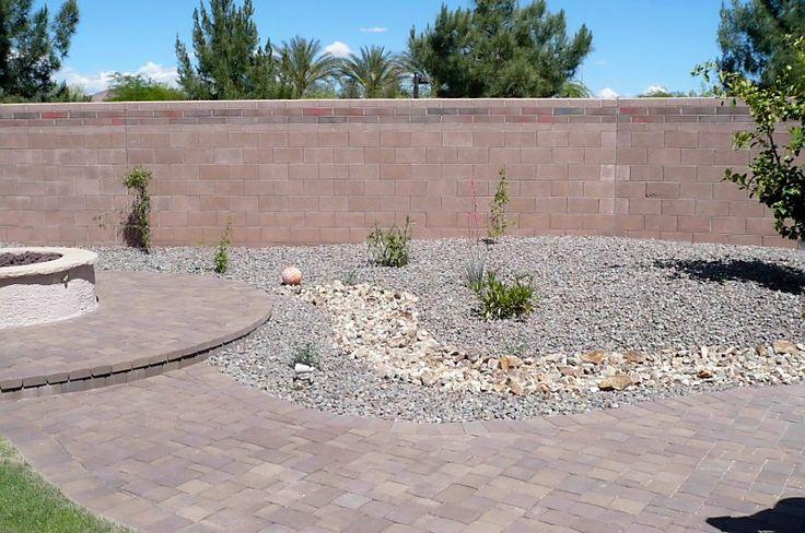 River rock yard  wouldnt do the path  garden  Pinterest