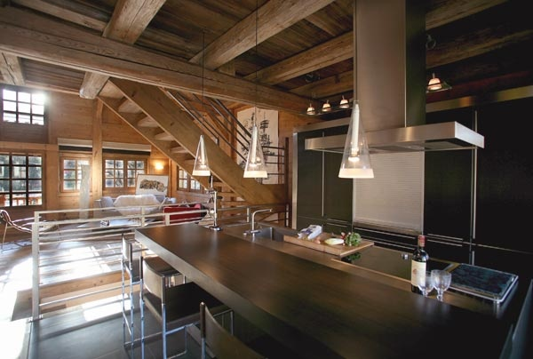 Chalet Contemporain  Cuisine Chalet contemporain Megeve HOME DESIGN