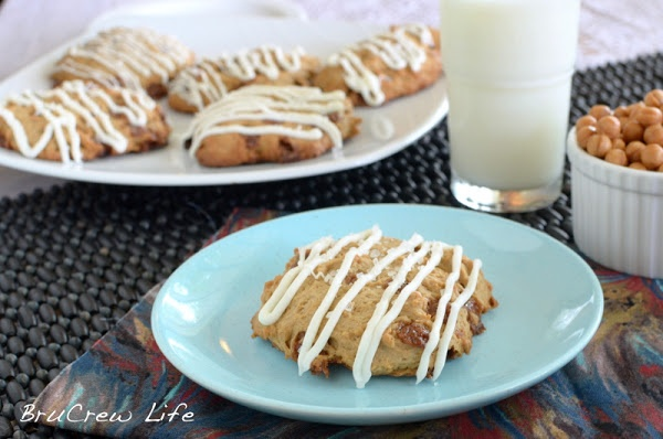 Salted Caramel White Chocolate Mocha Scones - Inside BruCrew Life