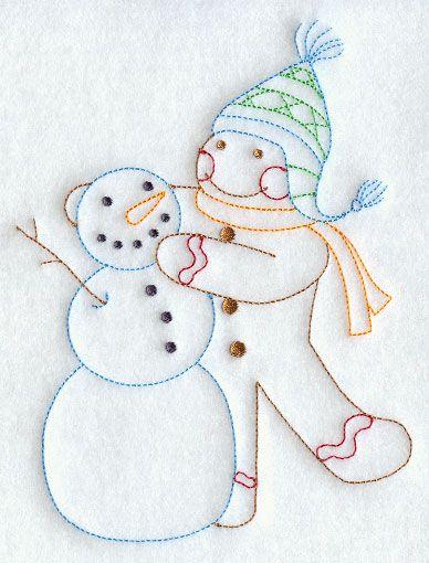 Snowman Machine Embroidery Designs