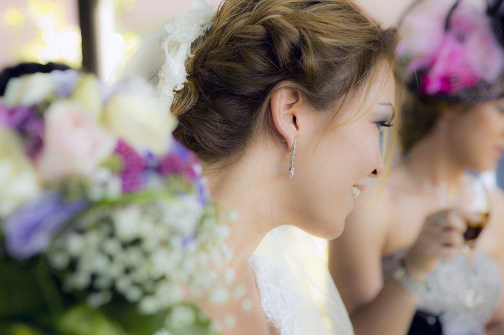Fotografía del peinado de la Novia