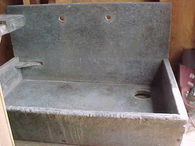 Antique Stone Sink : Soap Stone Sink Dark Grey 36