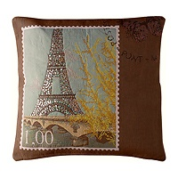 Sparkling eiffel tower pillow cover love from paris