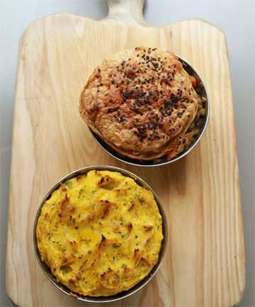 Vegan option. Barley, Lentil and Mushroom pies two ways (pastry or ...