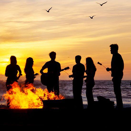 Fun Beach Bonfire Party