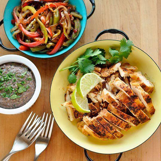 Recipe: Chipotle Chicken Fajitas with Creamy Black Bean Spread Recipes ...