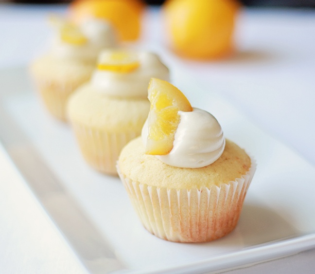meyer lemon cupcakes. The cadillac of lemons - flavor is slightly tart ...