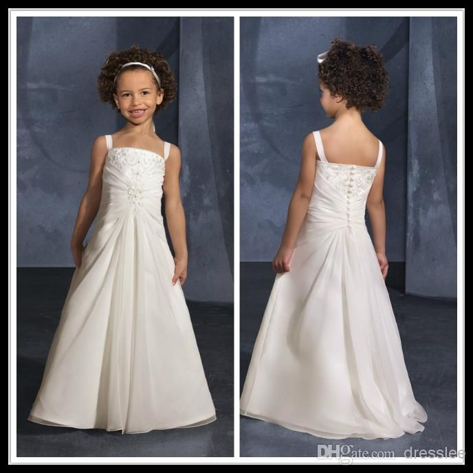 wholesale ivory flower girl dresses