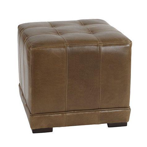 Leather Cube Ottoman Db Pinterest