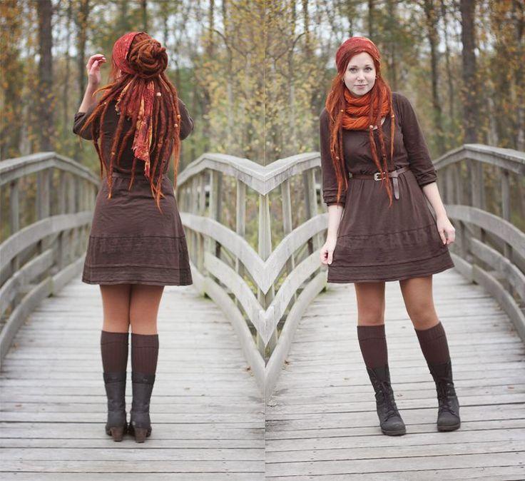 #dreadlocks #red #hair #dreads #headscarf