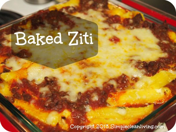 Baked Ziti with Meat Sauce I prefer to use veggie grounds as a meat ...