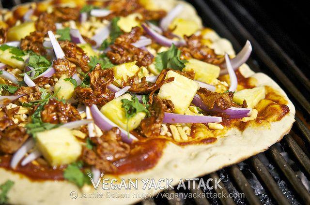 Grilled BBQ Gardein Pineapple Pizza