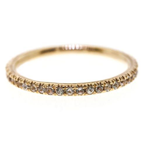 Ultra Thin 060 CT MICRO PAVE Eternity Wedding BAND DIAMOND RING 14K