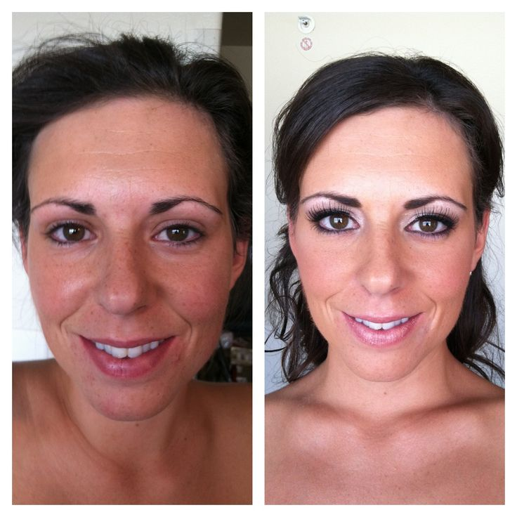 Bridal Makeup Pictures Before And After : Glamour Bridal Before and After Makeup Before and Afters ...