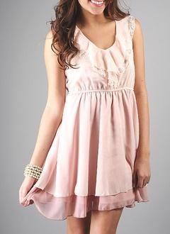 Ruffled lace tank dress - Go Jane   Shopaholic   Pinterest