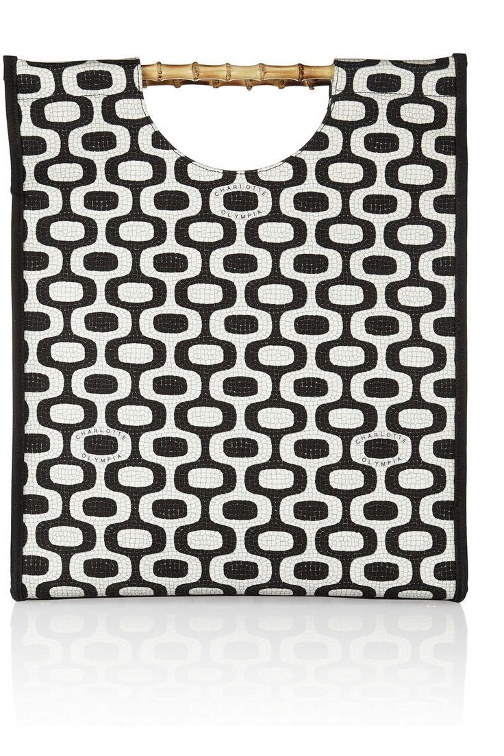 Shop now: Ipanema printed canvas shopper
