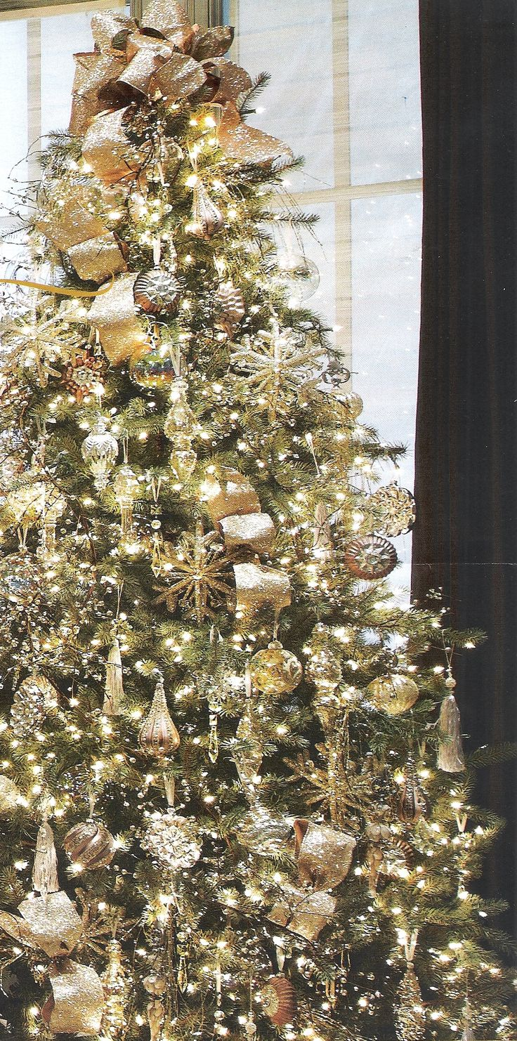 Beautiful Christmas Tree White Christmas Pinterest