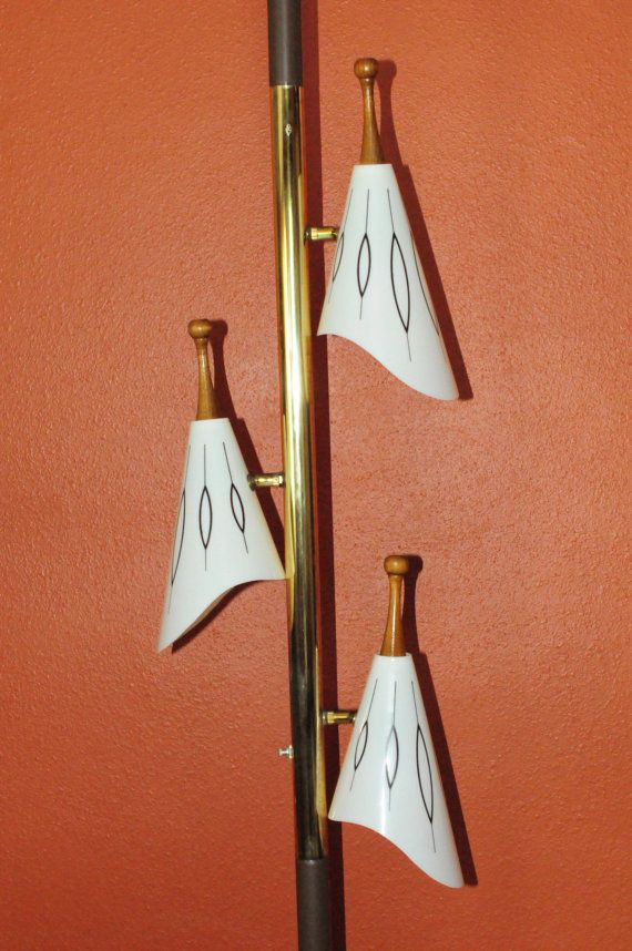 atomic mid century modern tension pole lamp. Black Bedroom Furniture Sets. Home Design Ideas
