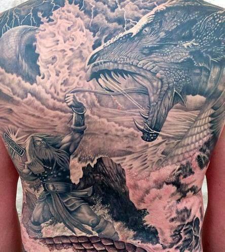 Viking tattoo back designs