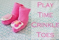 cotton baby socks tutorial - diy crinkle socks'