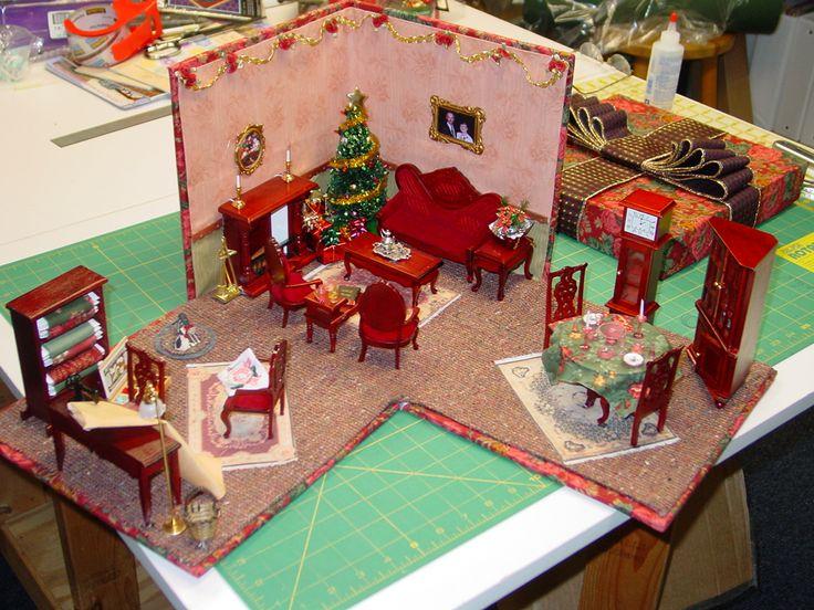 room box miniature ideas pinterest. Black Bedroom Furniture Sets. Home Design Ideas