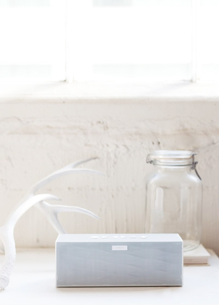 White on white. Big Jambox by Jawbone.  Photography by Laure Joliet.