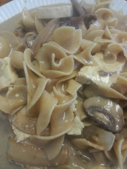 Mushroom tofu stroganoff! Delish!   lunch/supper   Pinterest
