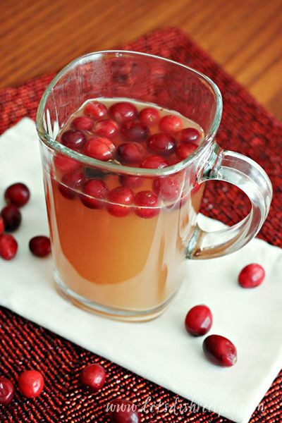 More like this: cranberry recipes , apple cider and holiday treats .