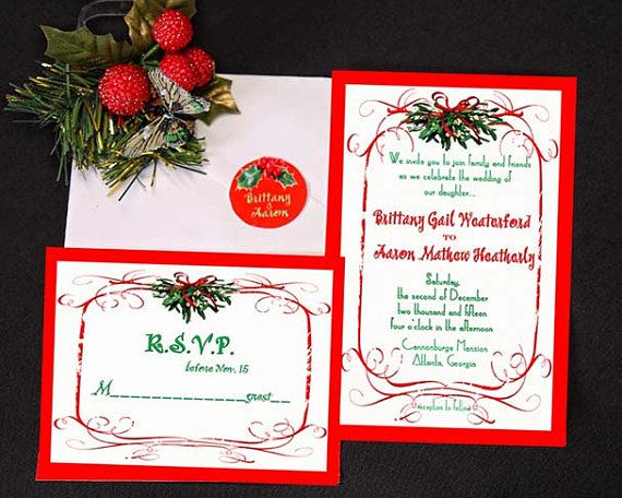 Casual christmas season wedding or party invitation for Wedding invitations 50 cents each