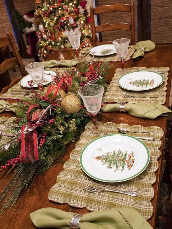 Christmas Table Decorations New Zealand : Christmas table setting navidad
