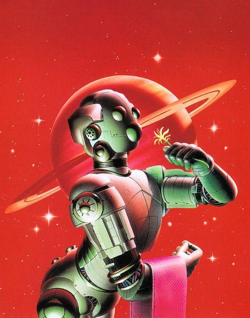 Robot & Saturn.