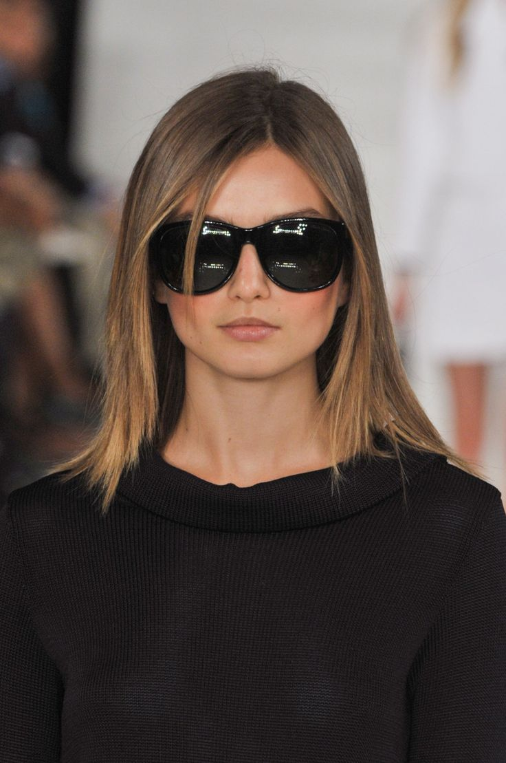 Ralph Lauren Spring 2014 - Hair. This is perfect I'm doing this. But in deep brown.