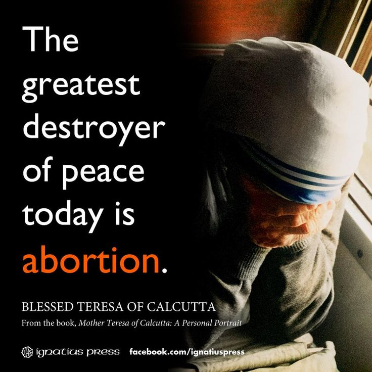 Image result for mother teresa quotes pro life