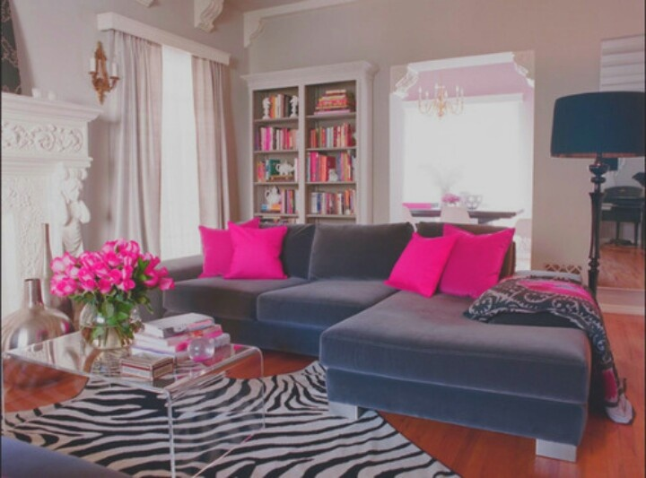 Hot Pink And Zebra Living Room For My Homeee Pinterest