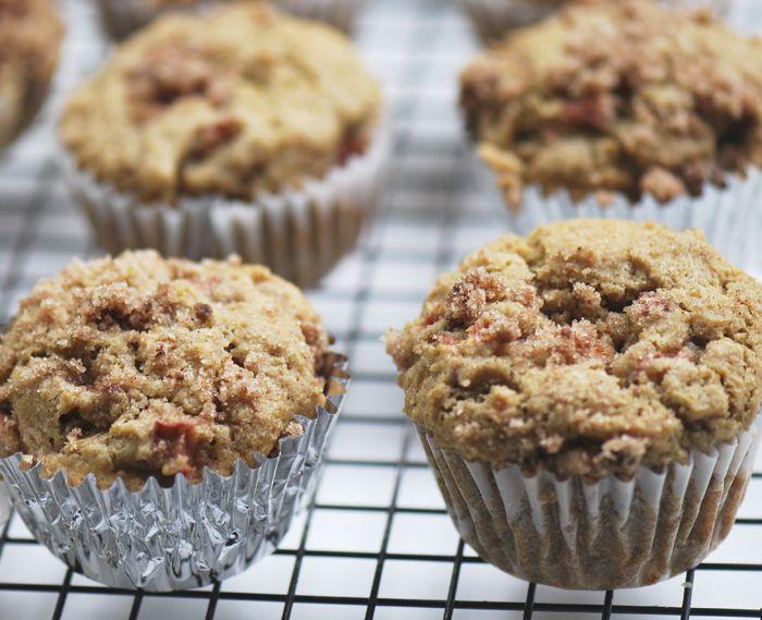 rhubarb muffins, 4 weight watcher points