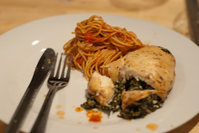 Spinach Feta stuffed chicken breast. ( would do it without the ...