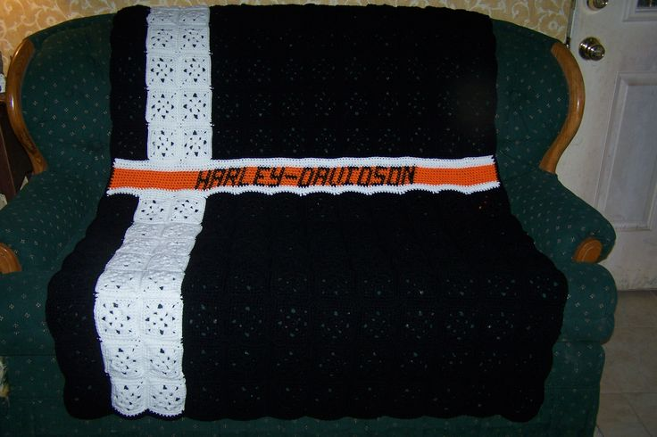 Harley Davidson Crochet Afghan Crochet Projects I would ...