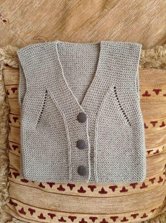 Безрукавка вязание детям 40