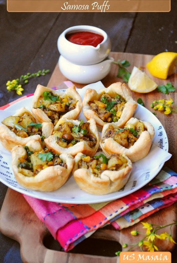 samosa puffs. | yum in the tum | Pinterest