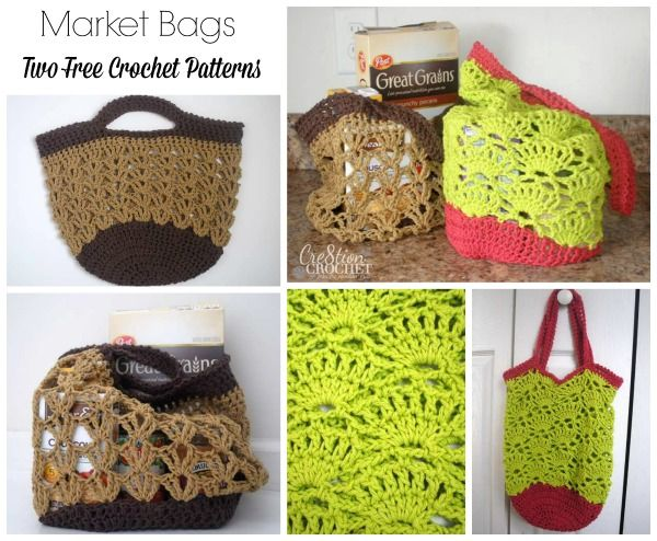 Crochet Market Bag Pattern Free : Market Bags ~ free pattern Crafts - Crochet - Bags and Baskets Pi ...
