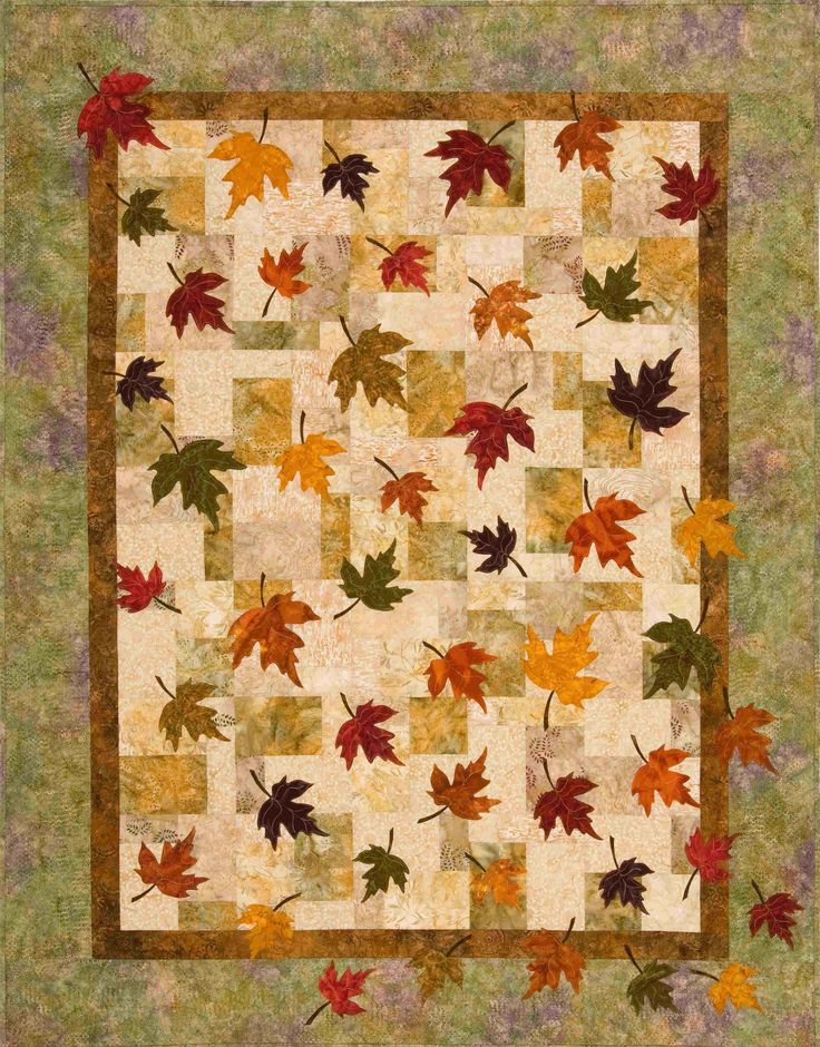 Quilt Patterns With Leaves : Plum Tree Quilts: Falling Leaves Autumn leaf quilts Pinterest