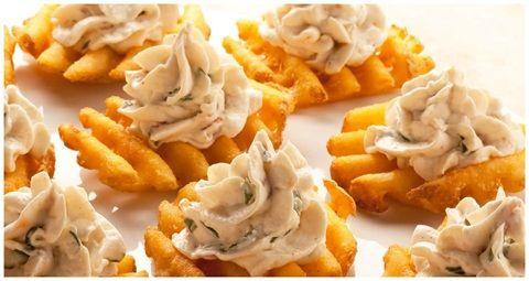 Candied Bacon Sweet Potato Waffle Fries Recipes — Dishmaps